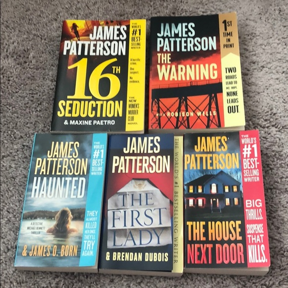 5 softback books by James Patterson